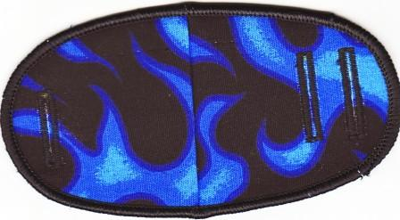Blue Flames - No Strap Children Eye Patch
