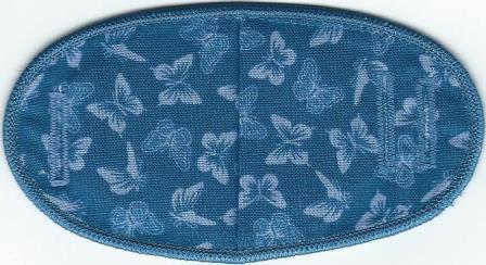 Butterflies on Blue - No Strap Children Eye Patch