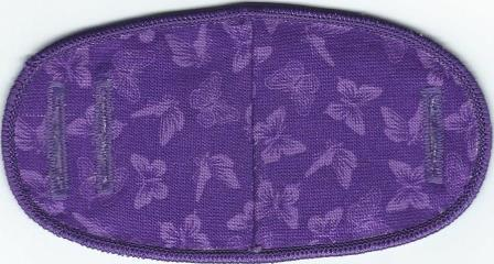 Butterflies on Purple - No Strap Children Eye Patch