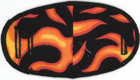 Flames - No Strap Children Eye Patch