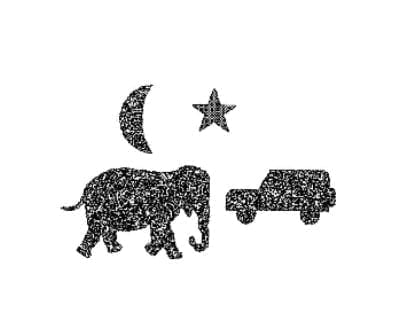 Lang-Stereotest Moon, Star, Elephant and Car