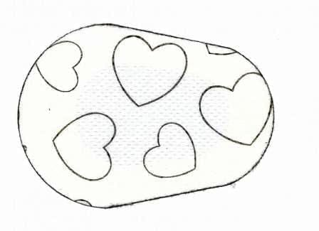 Outline Hearts Children Eye Patch