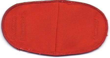 Red - No Strap Children Eye Patch