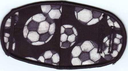 Soccer Balls On Black - Strap Children Eye Patch