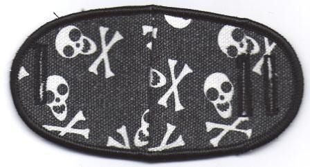 Skull and Cross Bones - No Strap Children Eye Patch