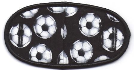 Soccer on Black - No Strap Children Eye Patch