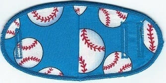 Baseballs on Blue - No Strap Children Eye Patch