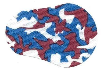 Red White Blue Camo Children Eye Patch