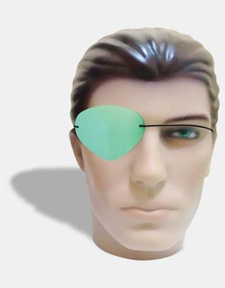 Green pirate eye patch