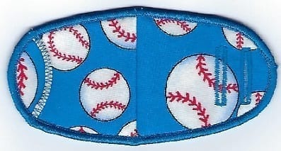 Baseballs on Blue - Strap
