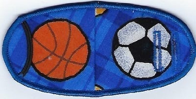 Sports Balls - Strap Eye Patch