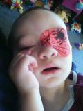spider man design eye patch
