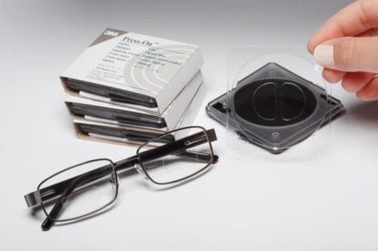Press On Optics D-Seg with glasses and packaging