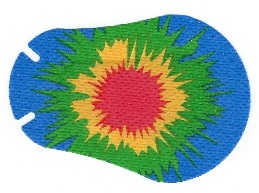 Tye Dye Design Eye Patch